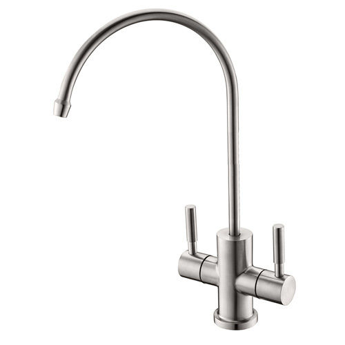 2-way- faucet for filtered water stainless steel