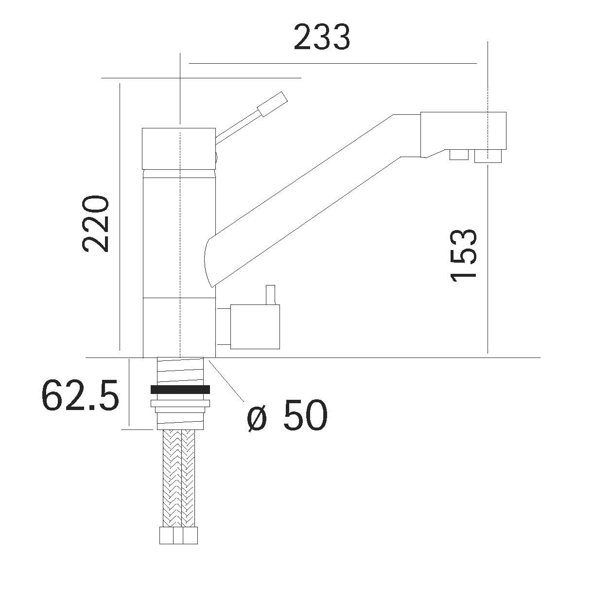3 wege k chenarmatur montreal inox edelstahl wasserhaus. Black Bedroom Furniture Sets. Home Design Ideas