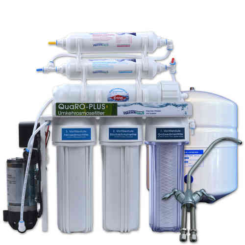 QUARO PLUS POWER Reverse Osmosis System with booster pump and mineralizer