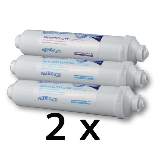2 replacement filter sets for RO MICRO DF
