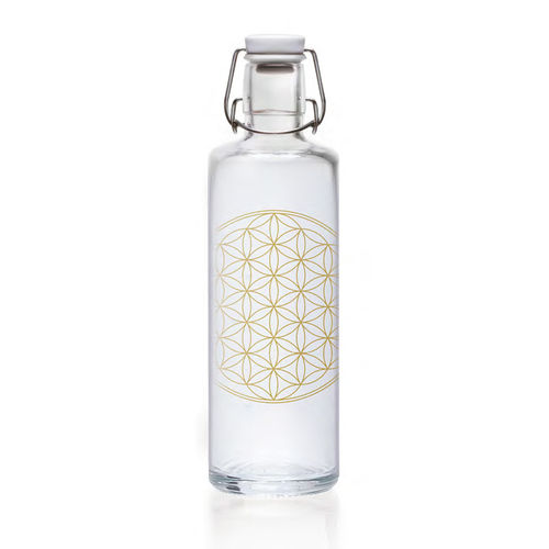 Soulbottle Flower-of-Life Glasflasche 1,0l