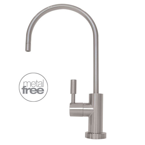 metal-free design faucet for filtered tap water, chrome