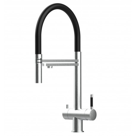 3-way faucet WINNIPEG stainless steel